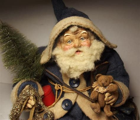 Handcrafted Santas - 10 images about s klaus on folk le