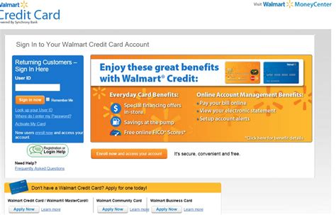 making  walmart credit card payment  quick bill pay