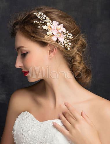 Kopfschmuck Braut by Goldene Hochzeit Kopfschmuck Blumen Perlen Strass Zirkonia