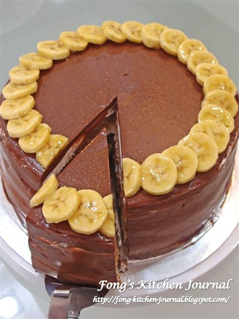 The Choco Chocolate Banana fong s kitchen journal banana chocolate cake