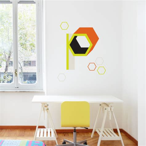 letter wall decals vinyl perri cone design letter wall