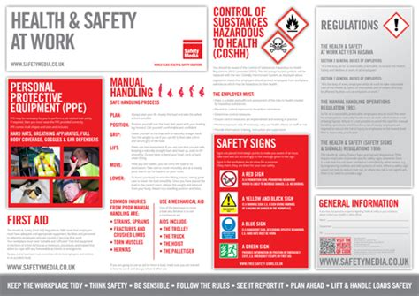 Workplace Health And Safety Poster Safety Media Safety Brochure Template Free