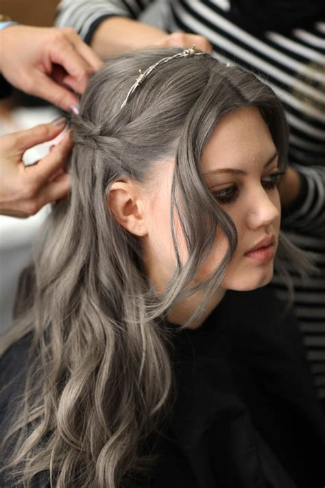 silver brown hair going gray intentionally the new hair trend for birchbox