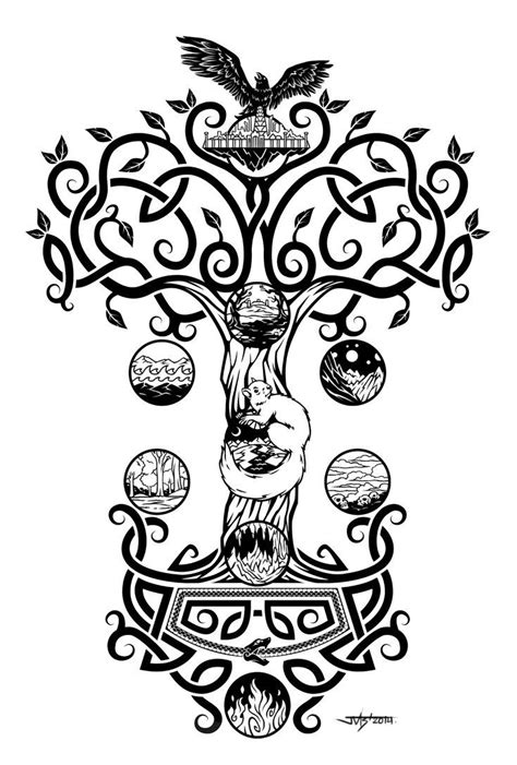 yggdrasil tattoo 31 best yggdrasil images on tree of