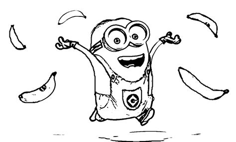 Minions Coloring Pages Banana Coloring Home