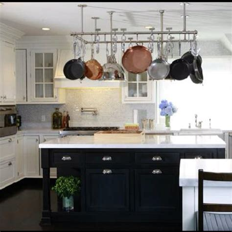 kitchen island with hanging pot rack must hanging pot rack pot rack ideas