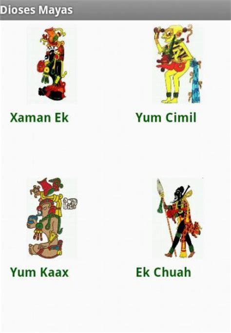 dioses mayas imagenes y nombres dioses mayas aplicaciones de android en google play
