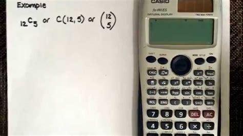 calculator ncr combination using the calculator casio fx 991es youtube