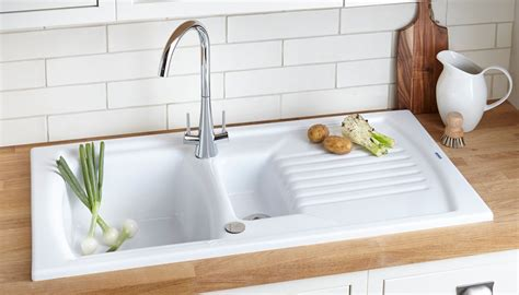 sink in the kitchen kitchen sink buying guide help ideas diy at b q