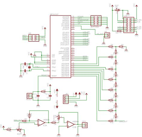 avr dds signal generator v2 0 part 1 schematic