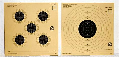 10 metre aigun targets used in nsra competitions