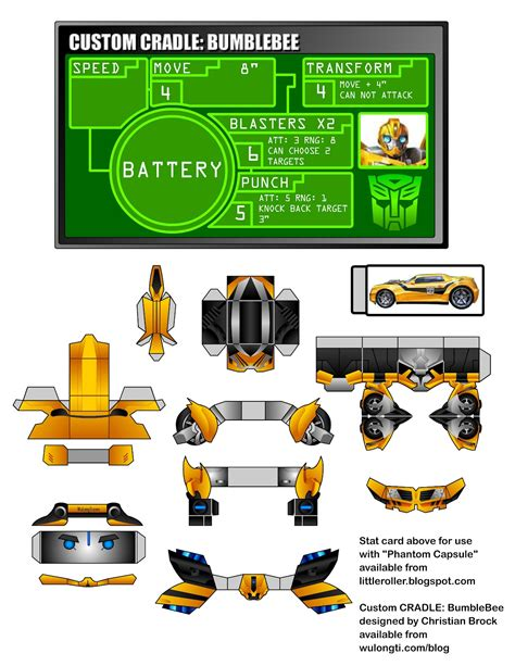 Papercraft Website - bumblebee transformers