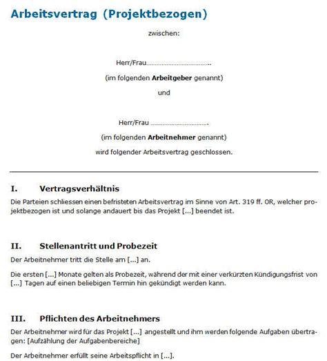 Word Vorlage Projektarbeit Muster Arbeitsvertrag Projektarbeit