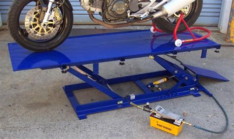 motorcycle lift bench motorcycle workshop equipment