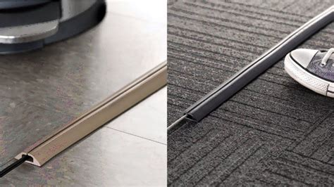 The Cable Carpet Hide Wires In Style by Compact Cord Protector Cover For Floor By Ut Wire