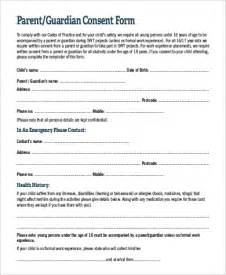 parental consent form template parent consent form sle 9 exles in pdf