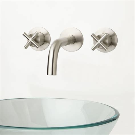 Exira Wall Mount Bathroom Faucet Cross Handles Bathroom Wall Faucet Bathroom
