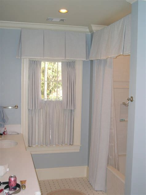 bathroom valance curtains shower curtain valance window treatments pinterest