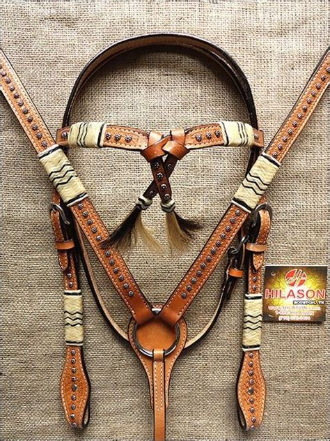 horse tack with lights pa381 hilason western leather horse bridle headstall