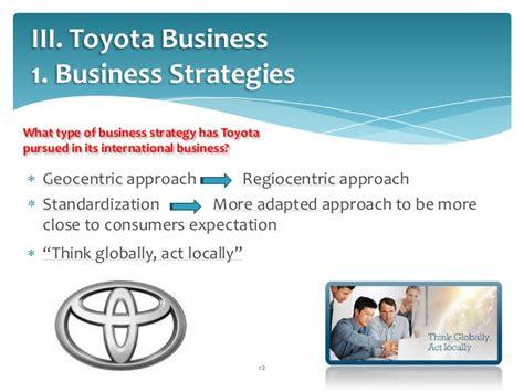 Toyota Marketing Strategy Toyota Way Ihrm