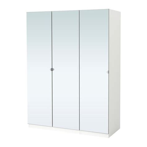 Ikea Bedroom Chest by Pax Wardrobe White Vikedal Mirror Glass 150x60x201 Cm Ikea