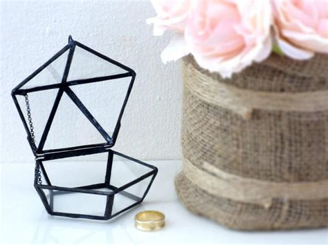 how to make ring holder for jewelry box wedding ring box shabby chic style mini geometric wedding