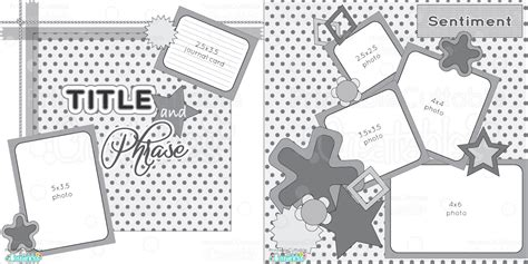 Free Scrapbooking Templates To by 2 Page 12x12 Free Printable Scrapbook Sketch Printable