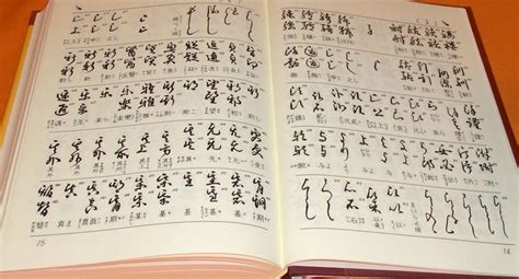 japanese picture book decrypt japanese calligraphy dictionary book