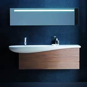 meuble lavabo suspendu il bagno alessi one 160x50 cm noyer