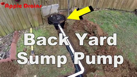 Sump In Backyard by Back Yard Sump Appledrains