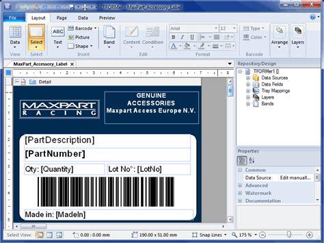 Etiketten Drucken Word Pad by Barcode Label Printing Software Tformer 7 5 6 Full Screenshot