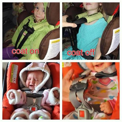 winter jackets and car seats psa coats and baby in car seat babycenter