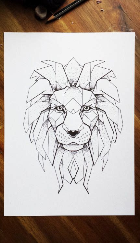 lion pattern tumblr m 225 s de 1000 ideas sobre geometric lion tattoo en pinterest