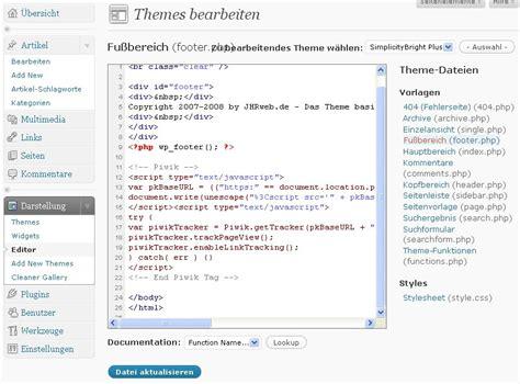Wordpress Theme Editor Link | wp 2 8 plugins funktionieren nicht mehr richtig jhrweb