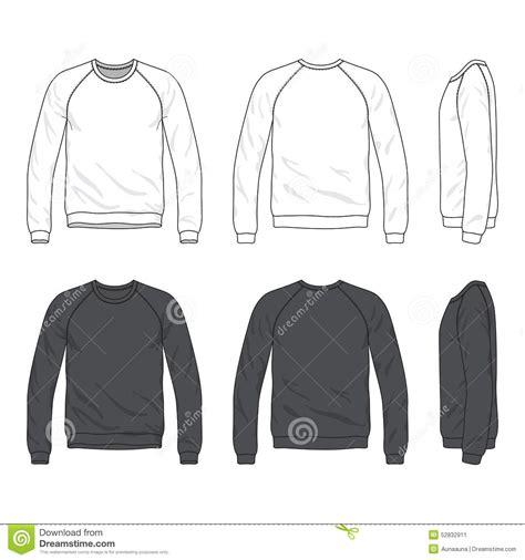 Kaos Panjang Longsleeve Nmax front back and side views of blank raglan sleeve