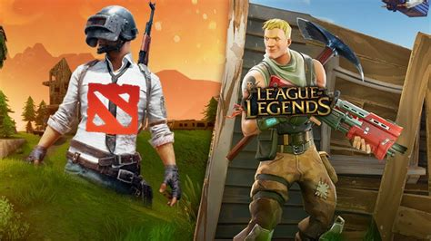 fortnite vs league of legends fortnite vs pubg league of legends vs dota2