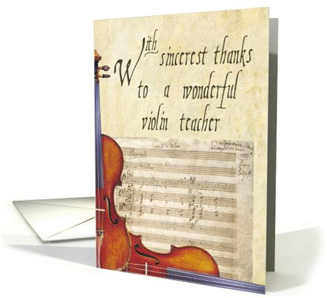thank you letter to violin thank you violin card 376913