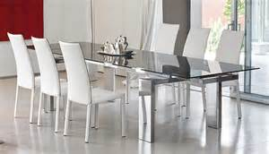 glass dining room table sets modern dining room set bonaldo