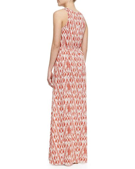 Emiliana Maxy soft joie emilia ikat print maxi dress
