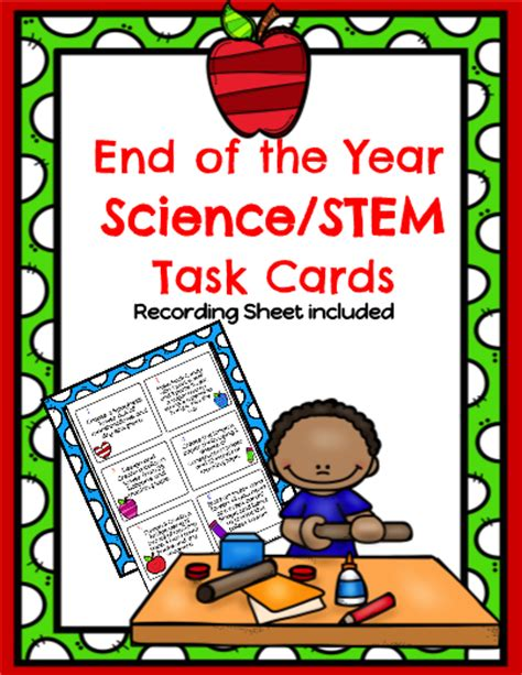 Science Task Card Template by Teaching Resources Printables Worksheets And More