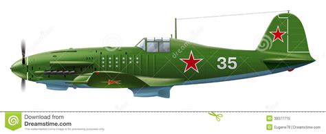 Amig7422 Wwii Soviet Airplanes Green Black Camouflages soviet aircraft stock vector image 39377715