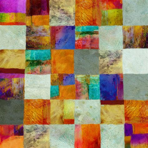 patchwork abstract painting by powell
