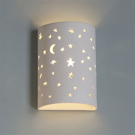 Childrens Lights For Bedrooms 7 Quot Starry Cylinder Sconce Children S Wall Lighting Children S Lighting Fabby