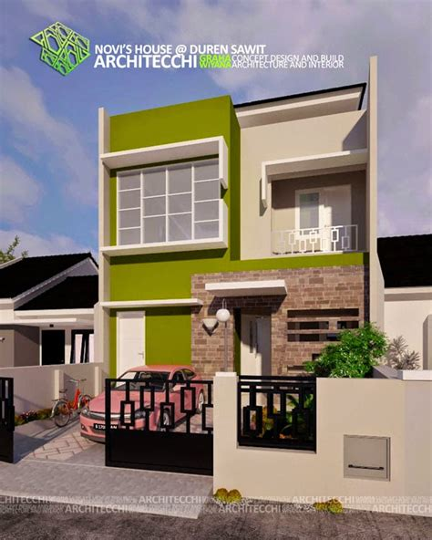 desain depan rumah lebar 8 meter desain rumah minimalis 2 lantai lebar 8 meter gambar