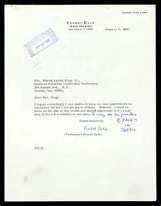 Reschedule Appointment Letter Template Letter From Ernest Dale To Mlk The Martin Luther King Jr