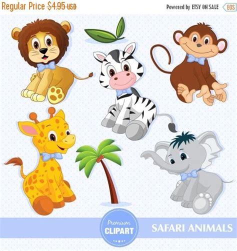 Baby Animal Clipart Baby Shower by 80 Sale Baby Boy Safari Animals Digital Clipart
