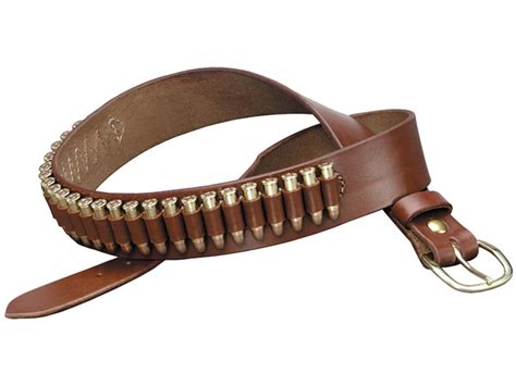 k 100 heavy saddle leather pistol cartridge belt 22