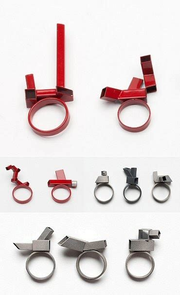 How To Make Paper Rings Origami - thecarrotbox modern jewellery obsessed with