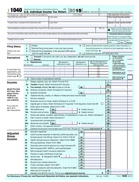 Printable 1040a Tax Return Form