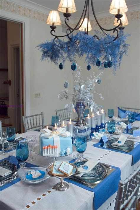 winter wedding theme centerpieces 2 the hostess beautiful hanukkah table the kosher